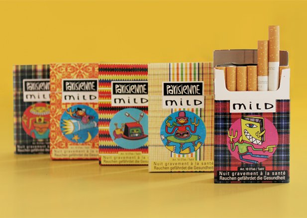 Cigarettes Winston in a yellow pack